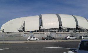 Le stade Arena des Dunas est aujourd'hui l'un des cartes postales de la ville Natal. Celui-ci a été domicile de quatre matchs de foot au cours de la coupe du monde Brésil 2014. (Crédit photo: Fabio Santana)